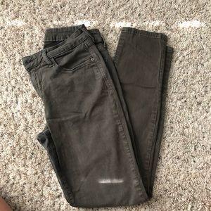 NYDJ skinny olive pants